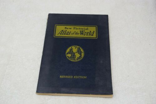 Vintage New Pictorial Atlas Of The World, Revised Edition, 1954