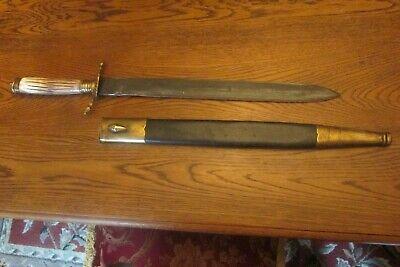 American Hunting Sword/Cuttoe W Scabbard & Documentation