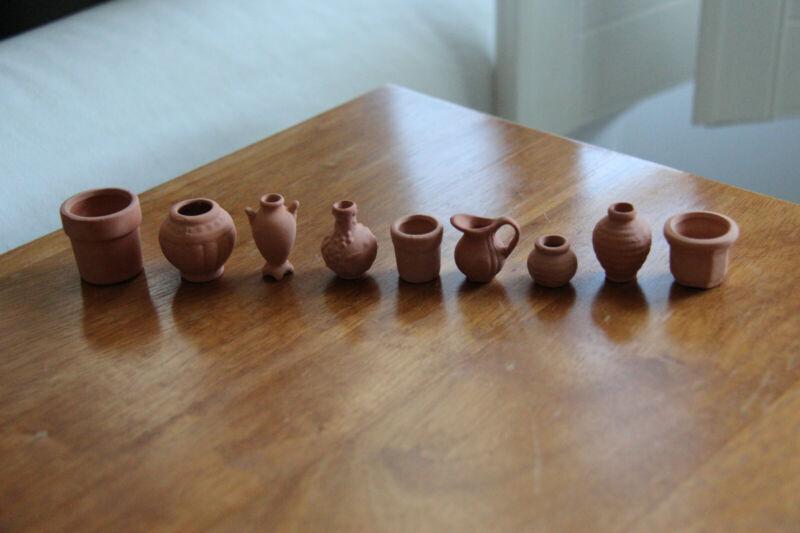 Miniature Dollhouse 1:12 Pottery Set