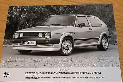VW BBS Golf GTi Press Photograph 1985