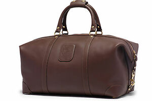 GHURKA CAVALIER III No. 98 - Carry-On Duffel Bag Luggage - Walnut Leather