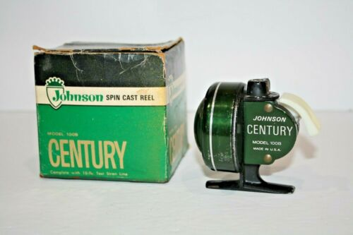 Vintage Johnson Century 100B Spin Cast Fishing Reel in Box!