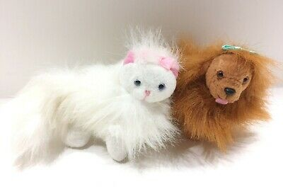 Barbie Pets - GINGER Persian White Cat 1998 VINTAGE & Dog Candie Please Adopt Us