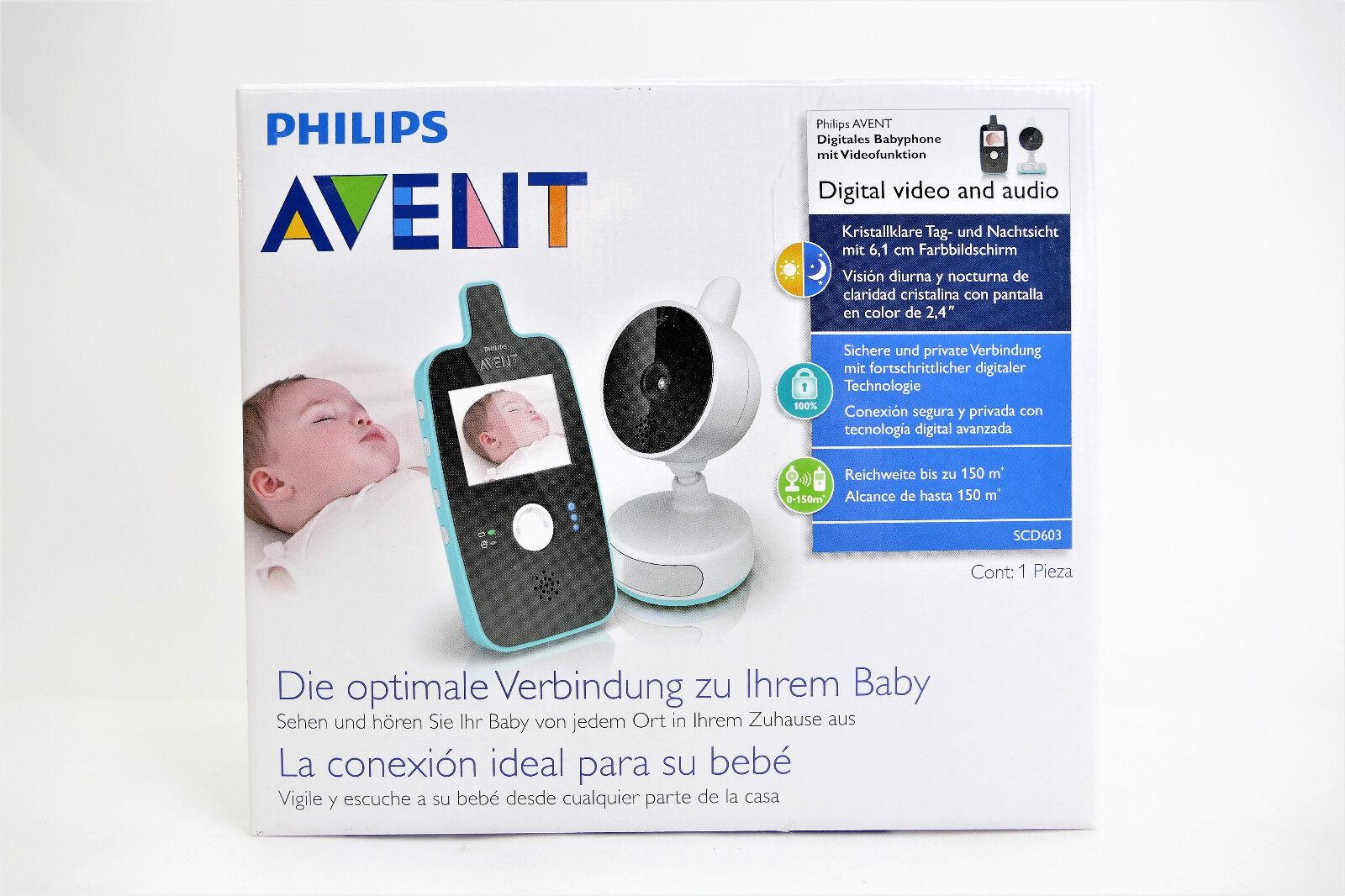 Philips Avent SCD603/00 Video Babyphone Farbdisplay und Nachtsichtfunktion