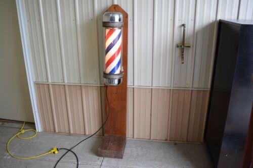 1950s Koken Rotating / Lighted Barber Pole – USA Made!