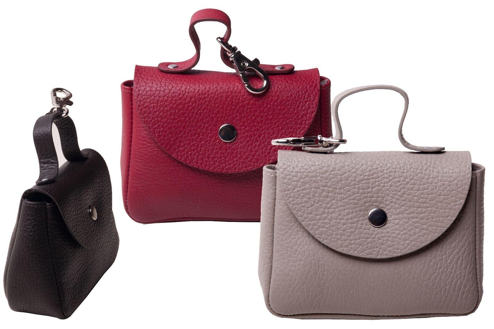 Handtaschenschmuck, Schlüsselanhänger, Schlüsseltasche - 100% Leder