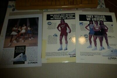 Kaepa Shoes lot of 3 vintage ads 1994 cheerleading/volleyball/cheer/college +