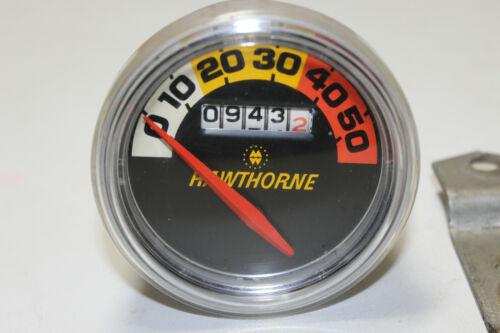 Vintage Hawthorne Bicycle Speedometer 0-50
