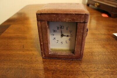 19th Century French brass 8 day travel carriage clock fully working