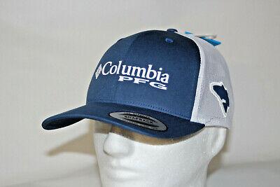 cb0ba940 Columbia PFG RedFish Snapback Mesh Ball Cap Hat in Night Tide FREE Decal  OSFA
