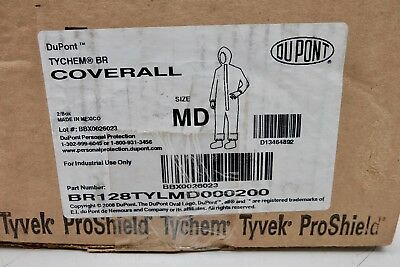 Dupont Tychem Br Br128tylmd000200 Coverall Size Md Protective 2 Suits Yellow