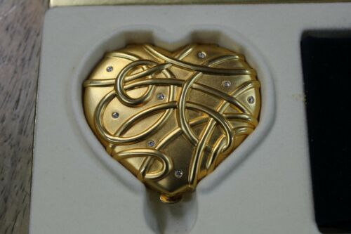 Estee Lauder Lucidity .1 oz Heart Shaped Translucent Pressed Powder Compact +Box