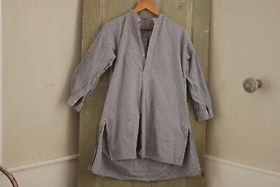 Work wear shirt men's workwear clothing plaid blue 1920's chore shirt - Men's 1920s Clothing
