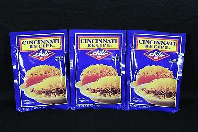 Cincinnati Recipe Chili Mix 2.25 oz 3 Pack the Best for Cheese Coneys and