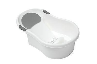 Tippitoes Mini Bath White/Grey Baby Infant Newborn Foam Headrest Support New