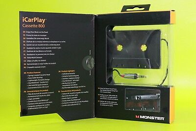 Original Monster iCarPlay Cassette Adapter 800 for iPod iPhone CD MP3 Player