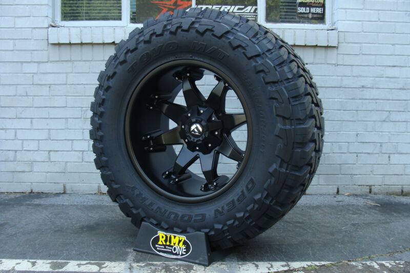 "20"" 20x12 Fuel Off Road Octane Black Toyo Mt 33x12.50r20 33""  Rimzoneonline"