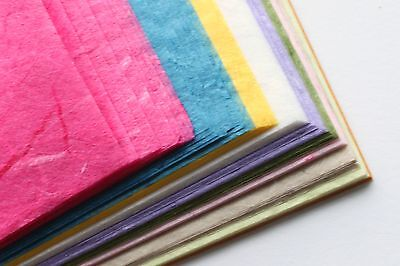 100 Sheets of A5 Mulberry Paper - Assorted Colours - Bumper Pack