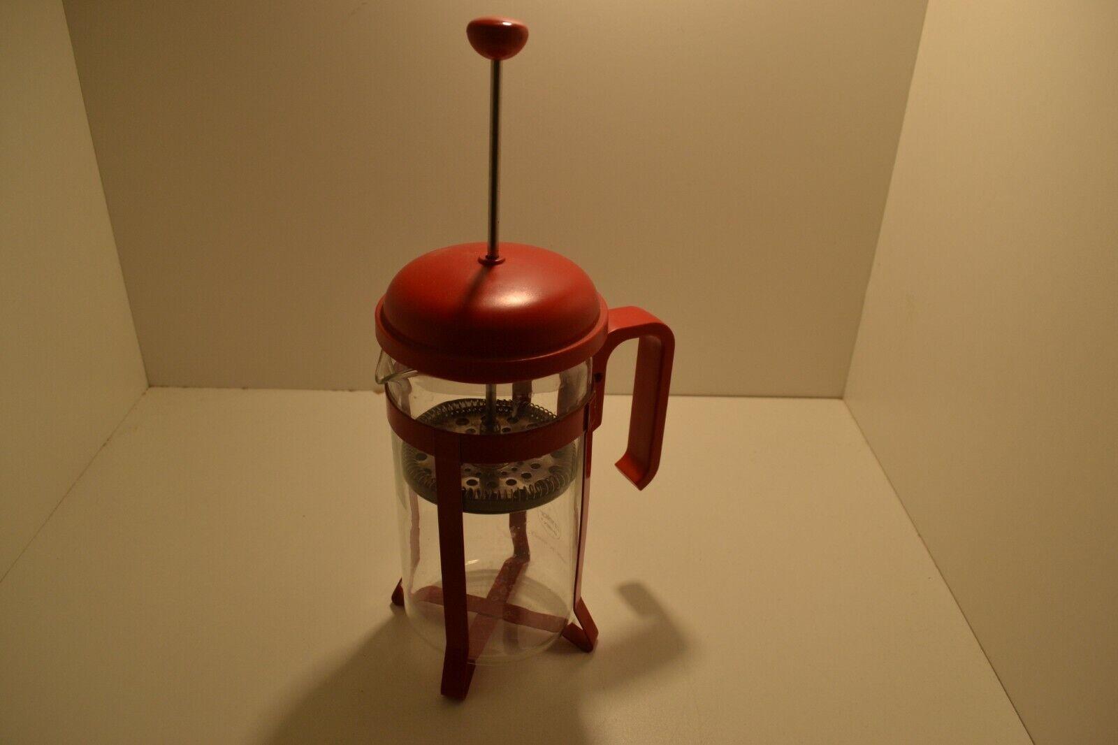 Cafetiere  marque melior  n°8 verre pyrex  rouge cafe france