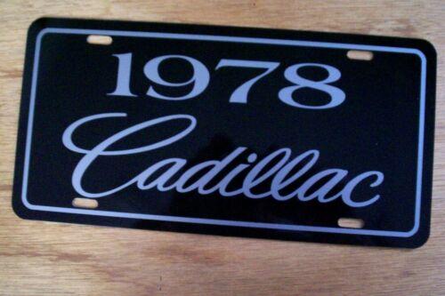 1978 Cadillac license plate car tag Caddy Eldorado Coupe DeVille Sedan Fleetwood