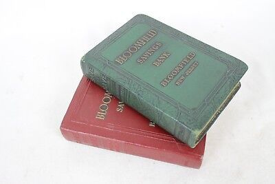 2 Vintage Save & Have Book Bank Bloomfield NJ New Jersey Benjamin Franklin Rare