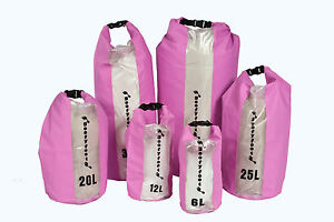 PINK-WATERPROOF-DRY-BAG-SACK-IDEAL-FOR-CANOEING-KAYAKING-SAILING-OR-CAMPING