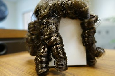 Wigs for dolls size 7-8 dark brown curls Lot of 2