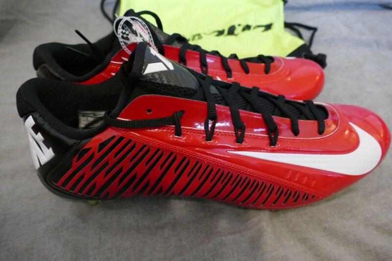 d03327b62 NIKE VAPOR CARBON 2.0 ELITE TD FOOTBALL CLEATS 657441-602 LACROSSE SHOES RED
