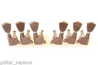 Clavijas Clavijero Negro 3R+3L Bushing 8 mm. Guitarra Electrica Tuning Keys