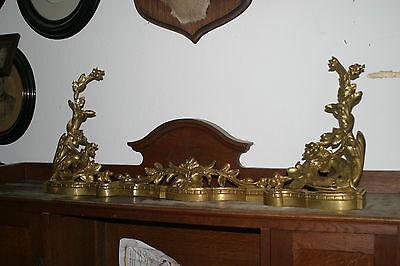 Kaminverkleidung Kamingarnitur Kamin Historismus Messing Bronze Vergoldet