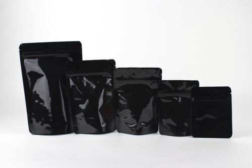 Small & Large Multi Purpose Black Mylar Bag: Opaque - Solid Both Sides