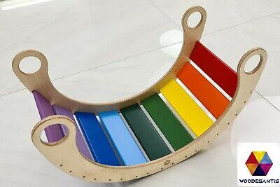 Rocker Rainbow - Dondolo Montessori in Legno