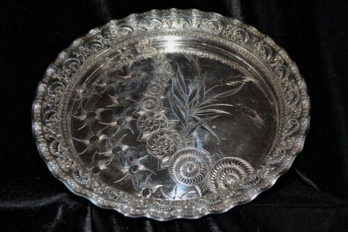 ❤️ Aesthetic Serving Tray/ Salver by Rockford Silver Co. 1880s