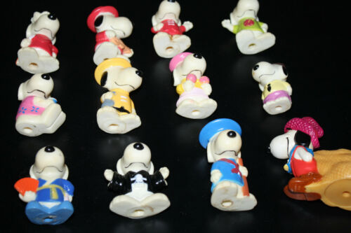 Vintage Peanuts Hollow PVC/HP Figurine Snoopy lot RARE