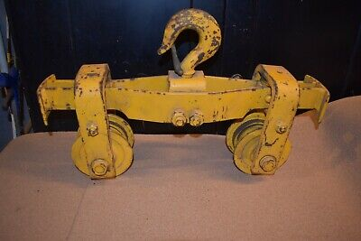 Heavy Duty Louden 4 Wheel 22 Overhead Trolley With Steering For 2 I-beam