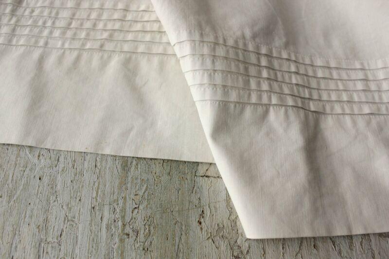 Apron Vintage French White Country Metis Cotton Fabric Ties Around Waist textile