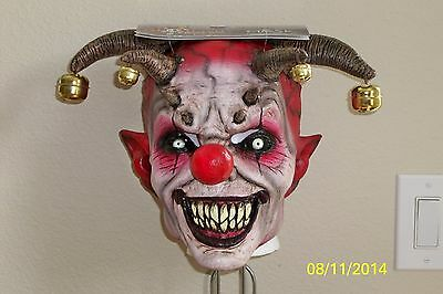 ADULT JINGLE JANGLE EVIL DEMON JESTER CLOWN LATEX FULL MASK COSTUME TB26446