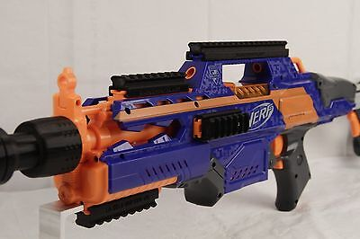 3D Printed – 5 Pc Set of Nerf to Picatinny Rails Mounts for Nerf Rapidstrike C18