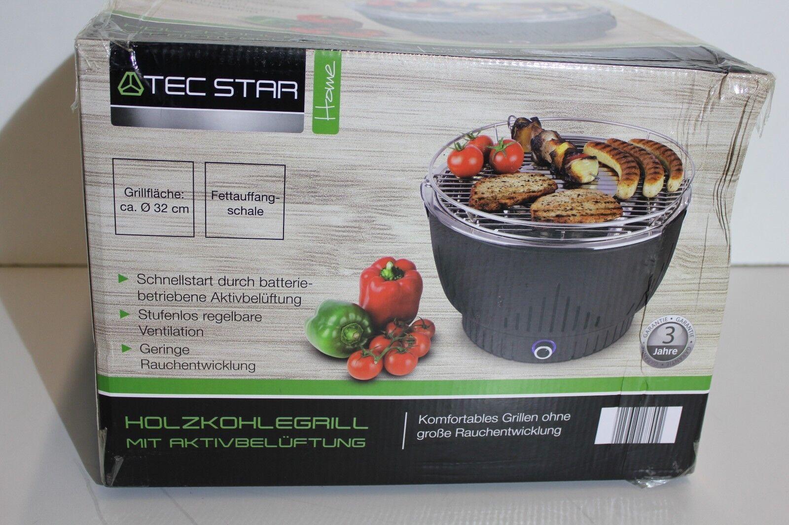 Florabest Holzkohlegrill Mit Aktivbelüftung Bewertung : Florabest holzkohlegrill tischgrill balkon rauchfrei ventilator
