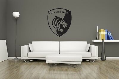Huge Leicester Tigers Rugby Team Logo Vinyl Sticker Wall Art / Man Cave
