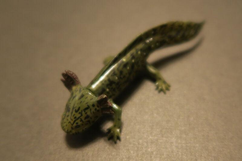 RARE Kaiyodo Takara Choco Q Pet 4 Mexican Baby Green Axolotl Salamander Figure