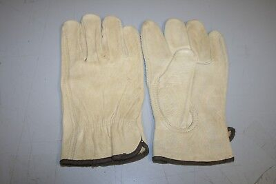 Heavy Duty Leather Work Gloves Size Large