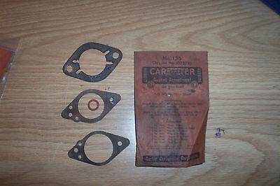 NOS PLYMOUTH,DODGE TRUCK 1939-49 CARTER CARBURETOR GASKET ASST.#1075710