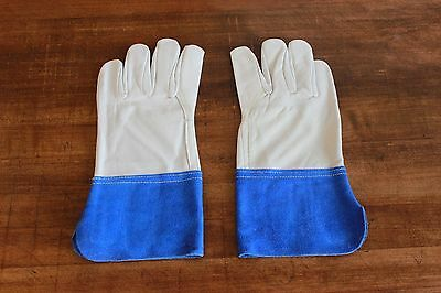 12 Leather Heavy Duty Cowhide Welding Gloves Small S Nos Tig Mig 4 Cuff