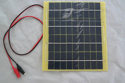 5WATT 18VDC POLY SOLAR 5W PANEL BATTERY CHARGER - USE FOR CHARGING 12V BATTERIES