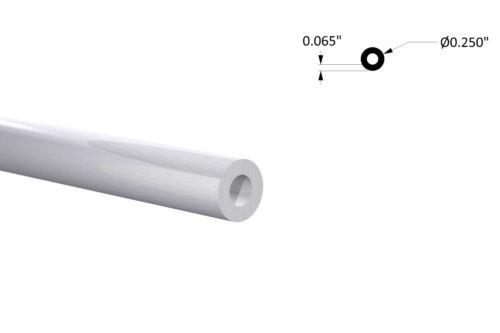 """Aluminum Round Tubing - 1/4"""" OD x 1/8"""" ID 4 Foot Mill Finish"""