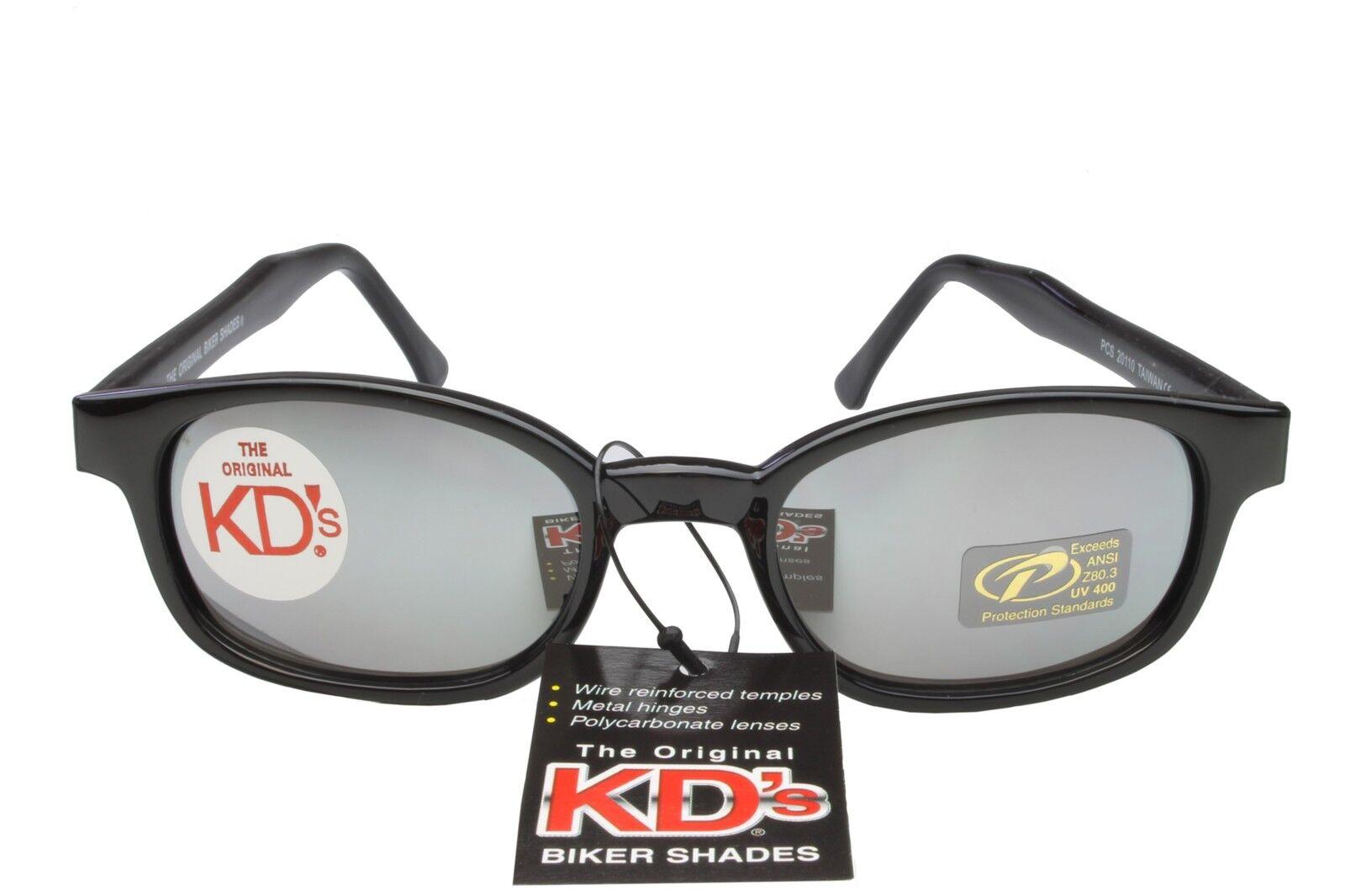 783e78bcc5 KDs Sunglasses Original Biker Shades Motorcycle Black Silver Mirror 20110