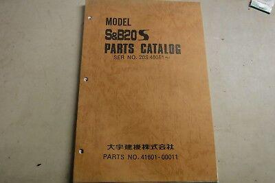 Sb 20s Hanix 20s Excavator Parts Manual