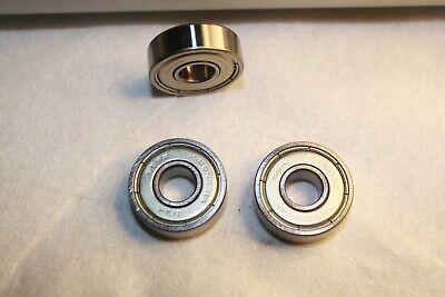 10 Piece Lot Of Nsk 608 Zz Dual Shielded Skateboard Bearings Chrome Super Fast