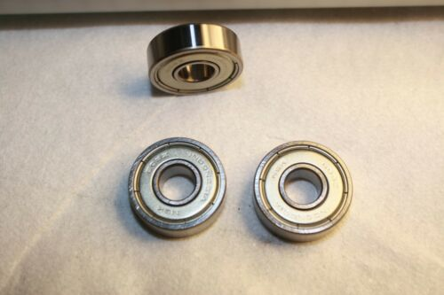10 Piece lot of NSK 608 ZZ Dual Shielded Skateboard Bearings Chrome Super Fast